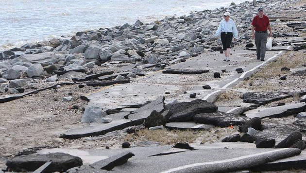 """Tropensturm """"Hermine"""" zieht von Florida nordwärts (Bild: AP)"""