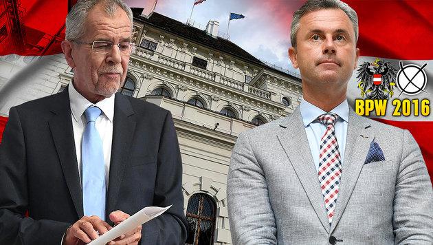 Heute wählt Österreich seinen Bundespräsidenten (Bild: APA/Helmut Fohringer, thinkstockphotos.de, krone.at-Grafik)