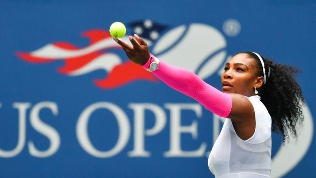 Serena Williams nach Rekordsieg im Achtelfinale (Bild: AFP)