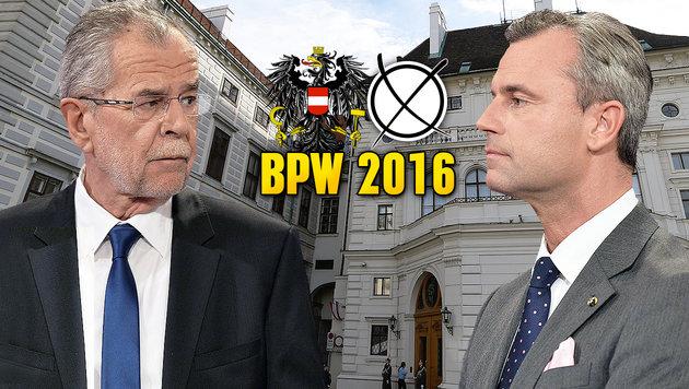 Wird die Hofburgwahl jetzt auch noch verschoben? (Bild: APA/HELMUT FOHRINGER, APA/HERBERT NEUBAUER)