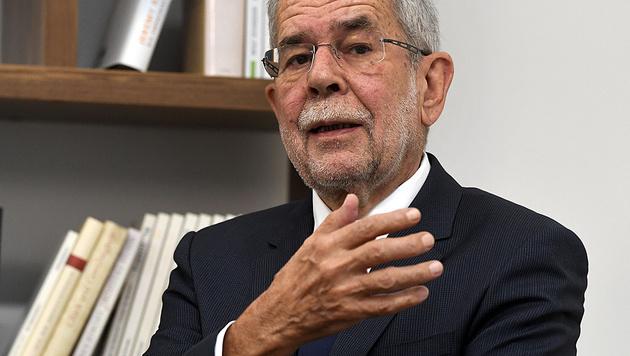 Hofburg-Kandidat Van der Bellen (Bild: APA/Harald Schneider)