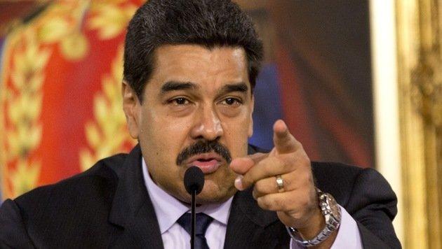 Noch ist Venezuelas Präsident Nicolas Maduro überzeugt, den Machtkampf zu gewinnen. (Bild: ASSOCIATED PRESS)