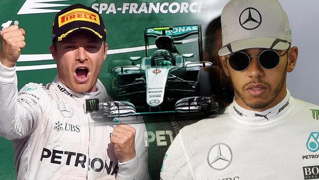 Rosberg vor Hamilton! Mercedes-Doppelsieg in Monza (Bild: AP)