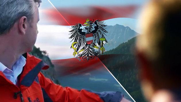 """So k�mpfen Hofer und VdB um die """"Heimat"""" (Bild: YouTube.com, thinkstockphotos.de)"""