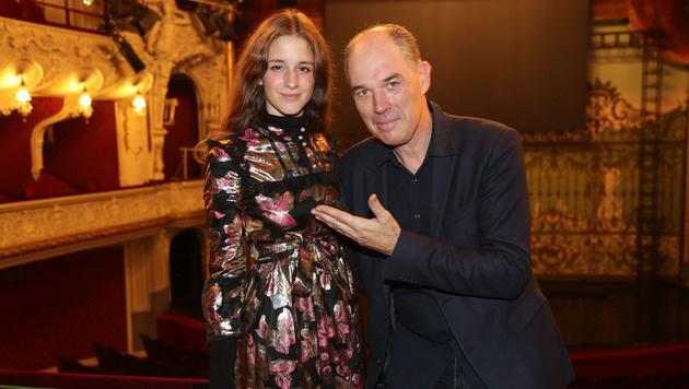 Die Mimin und ihr Regisseur: Coco König bei Matthias Hartmann (Bild: Franz Neumay)