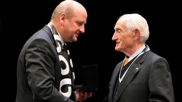 Karl Schlechta (rechts) mit Hans Rinner im Jahr 2009 (Bild: GEPA)