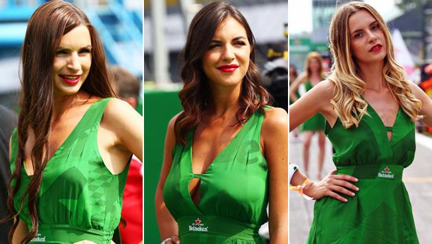 Wow! Die Grid Girls machten vor dem Grand Prix von Italien eine tolle Figur! (Bild: GEPA)