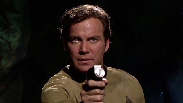 "William Shatner als Captain Kirk in ""Raumschiff Enterprise"" (Bild: CBS Photo Archive)"