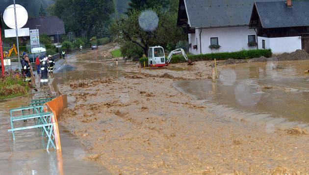 Kärnten: Ausnahmezustand nach heftigen Unwettern (Bild: Hermann Sobe)