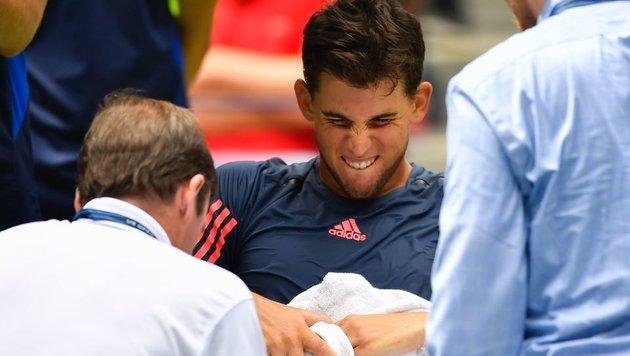 Thiem: Deshalb hat er bei den US Open aufgegeben! (Bild: APA/AFP/EDUARDO MUNOZ ALVAREZ)