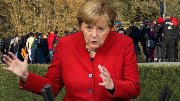 4 von 5 Deutschen fordern Kurskorrektur von Merkel (Bild: APA/dpa/Peter Kneffel, AP)