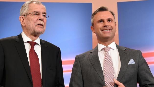 Die beiden Präsidentschaftskandidaten Alexander Van der Bellen und Norbert Hofer (Bild: APA/HELMUT FOHRINGER)