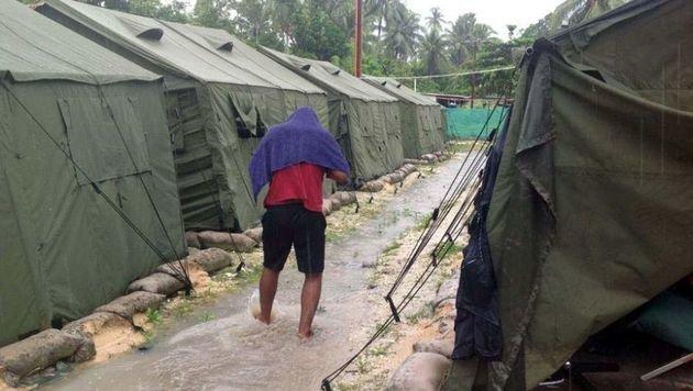 Ein von der australischen Regierung betriebenes Flüchtlingscamp auf Papua-Neuguinea (Bild: APA/AFP/REFUGEE ACTION COALITION)