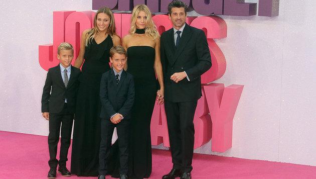 Patrick Dempsey mit Ehefrau Jillian Fink und ihren Kindern Darby Galen, Tallula Fyfe und Sullivan (Bild: Viennareport)