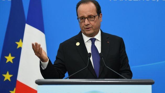 Frankreichs Präsident Hollande (Bild: APA/AFP/STEPHANE DE SAKUTIN)