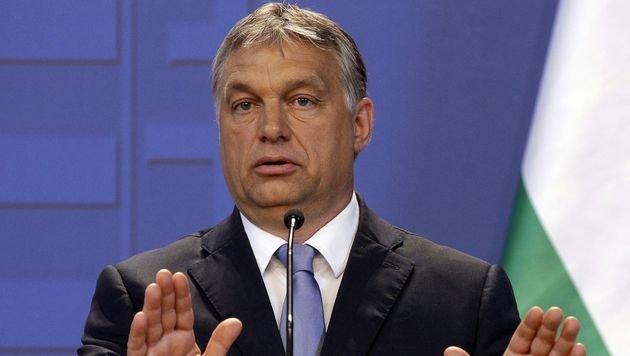 """Im neuen Geschichtsbuch für Schüler wird Orban als """"Gründer des modernen Ungarn"""" gepriesen. (Bild: APA/AFP/PETER KOHALMI)"""