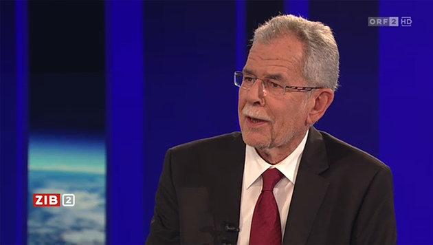 """Van der Bellen: """"Der Bundespr�sident muss nicht pumperlgesund sein."""" (Bild: tvthek.orf.at)"""