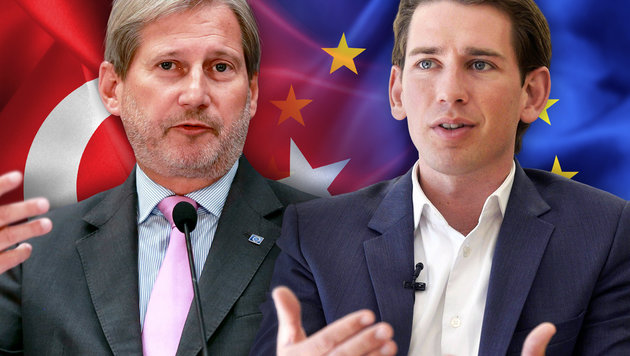 EU-Türkei-Gespräche: Hahn und Kurz im Clinch (Bild: APA/HERBERT PFARRHOFER, AFP/ADEM ALTAN, thinkstockphotos.de)