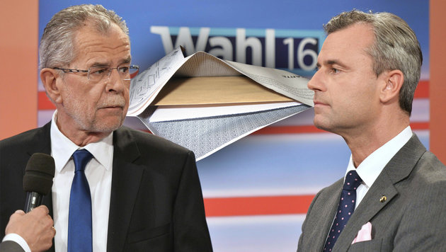 """Hofburg-Chaos: Beamte riefen zu """"Wahlbetrug"""" auf (Bild: Kronen Zeitung, APA/Herbert Neubauer)"""