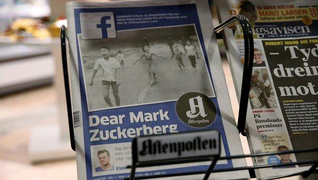 Norwegische Zeitung wirft Facebook Zensur vor (Bild: ASSOCIATED PRESS)