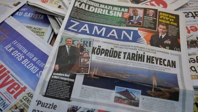 """""""Zaman"""" zum letzten Mal auf Deutsch erschienen (Bild: APA/AFP/ADEM ALTAN)"""