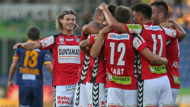 3:2-Sieg! Ried gibt rote Laterne an St. Pölten ab (Bild: GEPA)