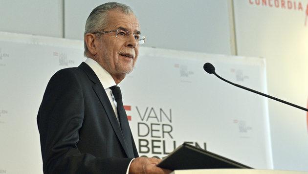 Kurzzeit-Präsident in spe Van der Bellen (Bild: APA/HANS PUNZ)
