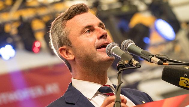 """FPÖ im Kampf gegen das """"rot-schwarz-grüne Kartell"""" (Bild: APA/WERNER KERSCHBAUMMAYR)"""