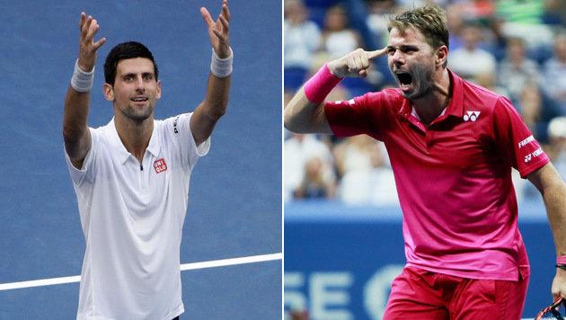 Djokovic und Wawrinka im US-Open-Finale (Bild: AP)