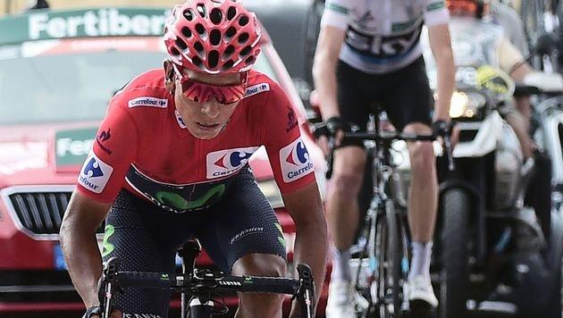 Nairo Quintana steht vor 1. Gesamtsieg bei Vuelta (Bild: AFP)