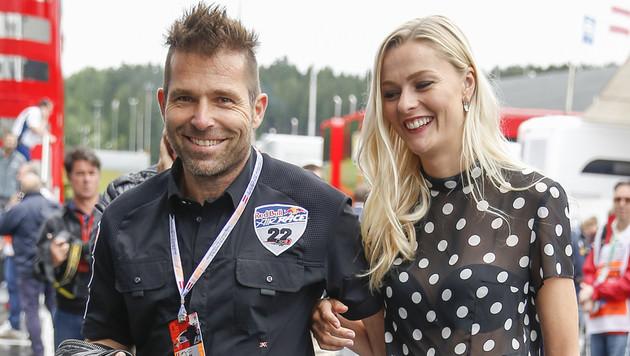 Hannes Arch mit seine Freundin Miriam Höller am Red-Bull-Ring in Spielberg (Bild: APA/ERWIN SCHERIAU)