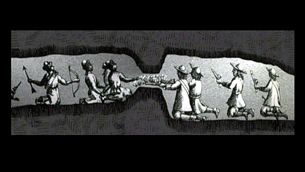 Die Türkenbelagerung von Wien wurde auch unter der Erde ausgefochten (zeitgenössische Zeichnung). (Bild: Wikipedia.de)