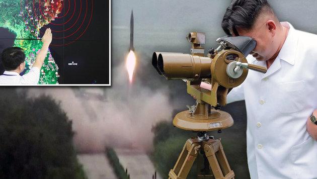 """Kims """"Atomwaffenstaat"""" soll 2017 vollendet sein (Bild: AP, APA/AFP/KNCA VIA KNS/KCNA, APA/AFP/KNCA VIA KNS/KCNA)"""