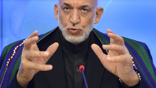 Afghanistans Ex-Pr�sident ruft Fl�chtlinge zur�ck (Bild: AFP/ALEXANDER NEMENOV)