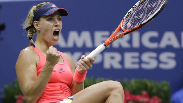 Angelique Kerber triumphiert bei den US Open (Bild: AP)