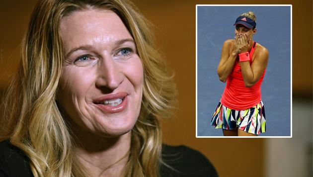 Steffi Graf gratuliert Kerber zum US-Open-Sieg (Bild: APA/AFP/GETTY IMAGES/ELSA, APA/AFP/TORU YAMANAKA)