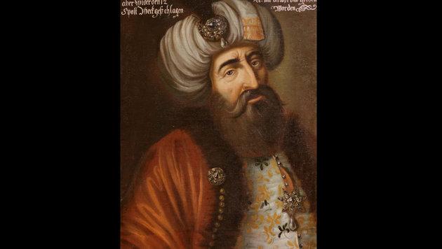 Der türkische Heerführer Kara Mustafa auf einem zeitgenössischen Bild (Bild: Wikipedia.de)