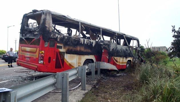 Taiwan: Busfahrer riss Reisegruppe mit in den Tod (Bild: APA/AFP/SAM YEH)