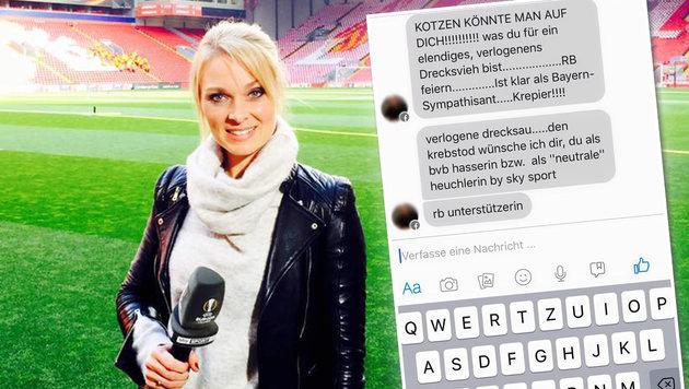 Sky-Moderatorin nach Leipzig-Sieg übelst beleidigt (Bild: facebook.com)