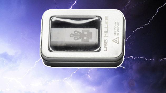 Nicht anstecken: Dieser USB-Stick röstet Ihren PC (Bild: usbkill.com)