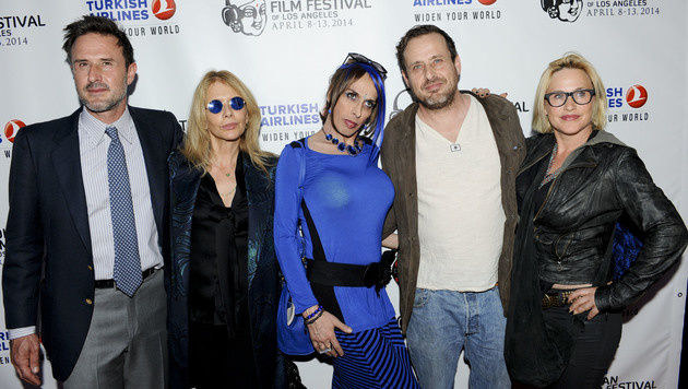 Alexis Arquette mit ihren Geschwistern David, Rosanna, Richmond und Patricia (von links) (Bild: Viennareport)