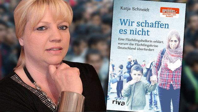 """Flüchtlingshelferin: """"Nein, wir schaffen es nicht"""" (Bild: Riva Verlag, Facebook.com, dpa)"""