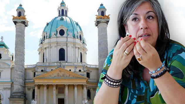 Karlsplatz-Verschandelung: Das sagt Vassilakou (Bild: zwefo, Klemens Groh)