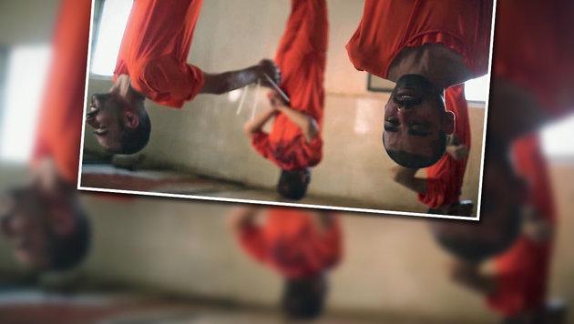 Opferfest: IS-Schl�chter t�ten Gefangene wie Vieh (Bild: twitter.com/terror_monitor)