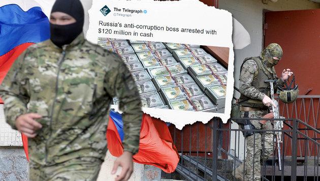 Russlands Korruptionsjäger mit 120 Mio. € erwischt (Bild: APA (Symbolbild), thinkstockphotos.de, twitter.com/Telegraph)