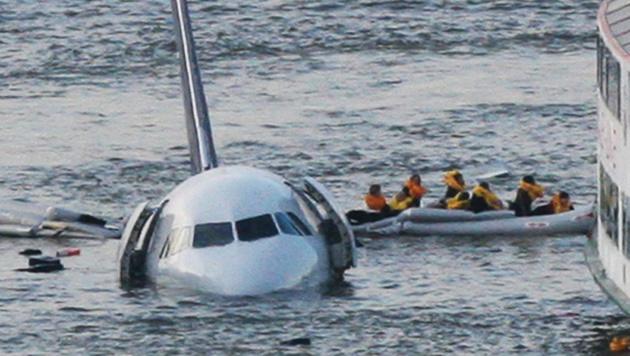 Die Notlandung am Hudson-River aus dem Jahr 2009 (Bild: AP)