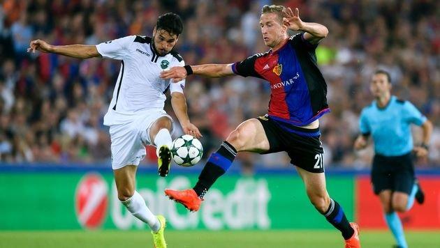 Da war Marc Janko noch für den FC Basel im Spiel - aber nicht mehr lange. (Bild: AFP)
