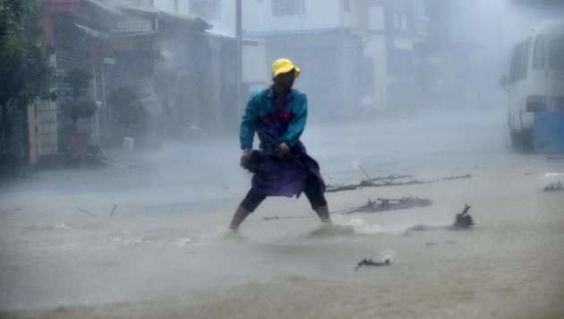 """Taifun """"Meranti"""" wütete über Süden Taiwans (Bild: APA/AFP/Sam Yeh)"""