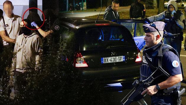 Erste weibliche IS-Terrorzelle in Paris ausgehoben (Bild: AP/Francois Mori, AFP/GEOFFROY VAN DER HASSELT)