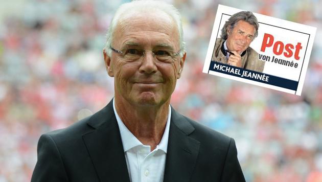 Lieber Franz Beckenbauer: Wegen des Scheißgeldes (Bild: APA/AFP/CHRISTOF STACHE)